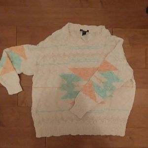 Abstract cozy knit sweater